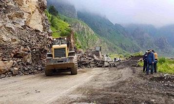 На Военно-Грузинской дороге запрещено движение транспорта