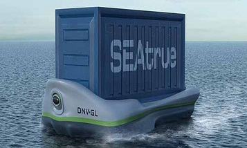 Self-propelled container for seafood transportation