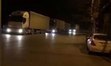 В Марнеули азербайджанцы напали на колонну армянских грузовых машин